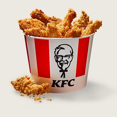 <p>Envie de choyer tes amis comme jamais ? Alors offre-toi le Bucket pour 4 ! Ce colosse contient 4 Crispys, 4 morceaux de poulet, 4 Hot Wings®, 4 Filet Bites et 4 grandes portions de frites (ketchup ou mayo inclus). Ce qui signifie : Tu peux partager relax et personne ne sera lésé. Tu en veux plus ? Fais-en un menu et commande des boissons sans alcool en prime !</p>
