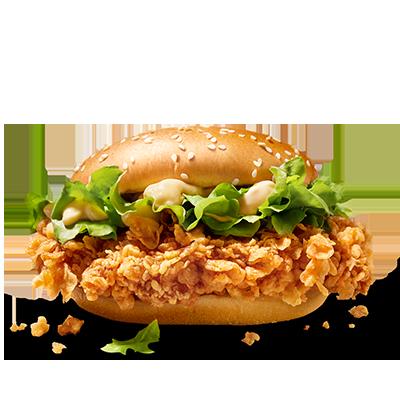 <p>Il met le feu à vos papilles: le Sandwich Zinger, issu du meilleur du </p> <p>blanc de poulet, pané et mariné selon notre recette Hot &amp; Spicy, sur</p> <p> son petit pain de blé avec sa salade iceberg craquante et une </p> <p>délicieuse sauce sandwich.</p>