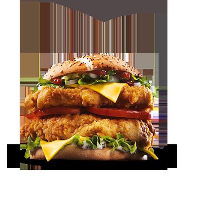 <p> BIG. BIGGER. BIG B.O.S.S! Das neueste Mitglied unserer KFC Familie  macht seinem Namen alle Ehre: Denn nicht nur eine, sondern gleich zwei  knusprig-zarte Filets von unserem finger lickin' good Chicken treffen  hier auf Colonel Sanders' einzigartige B.O.S.S BBQ Sauce! Und das ist  noch nicht alles - zwei Scheiben leckerer Cheddar Käse, zwei saftige  Tomatenscheiben, reichlich knackiger Eisbergsalat und feine  Zwiebelwürfel sorgen für ein großartiges Geschmackserlebnis! Jetzt neu und nur bei KFC!</p>