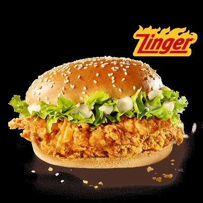 <p>Tu as le goût du challenge et tu aimes l'épicé?&nbsp; Pas de soucis! Nous avons décidé de donner un peu plus de piquant à ta relation longue durée avec le Zinger Burger. Comment va-t-on faire? Voici deux alternatives encore plus épicées!</p> <p>Le nouveau Zinger Hotter est effectivement plus épicé que son prédécesseur.&nbsp; Ici, le délicieux pain au sésame n'est pas seulement garni d'une laitue fraîche et croquante ainsi que d'un filet de poulet épicé et croustillant, mais aussi d'une sauce burger épicée.</p> <p>Ce n'est toujours pas assez épicé pour toi?&nbsp; Essaie alors le Zinger Hottest! Il va réveiller tes papilles grâce à sa sauce chili piquante et fruitée. Alors, tu vas oser? </p> <p>Tous ces burgers Zingers sont disponibles à la carte ou en menu, avec des frites et une boisson.&nbsp; De plus, ils existent également en Box, avec des frites, une boisson, trois Hot Wings et une portion de salade coleslaw. </p>