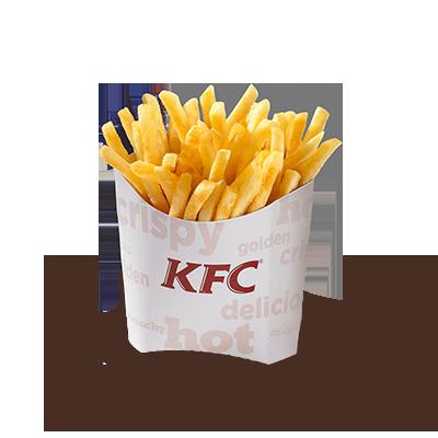 <p>Bien sûr, nous vous servons également des frites classiques en plus de </p> <p>votre plat de poulet ou de votre sandwich. Vous avez le choix entre </p> <p>deux tailles de portions.</p>