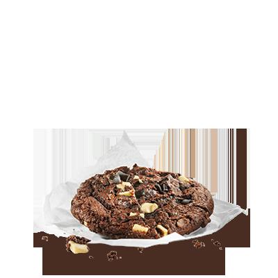 Il piacere di un biscotto tipicamente americano: un impasto al  cioccolato e tante gocce di cioccolato chiaro e scuro rendono il Double  Chocolate Cookie assolutamente irresistibile.