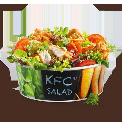 Un mix colorato di insalate: con l'insalata ai bocconcini di filetto di  KFC ti serviamo quattro bocconcini di filetto teneri e succosi, tanta  insalata croccante, pomodori e cetrioli. Nell'offerta è incluso anche un  dressing a tua scelta.
