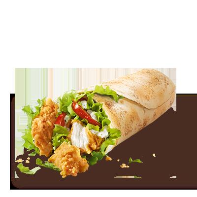 Un gustoso wrap che racchiude due bastoncini di filetto di pollo  impanati a mano al momento e fritti, insalata iceberg croccante,  pomodori freschi e deliziosa salsa al pepe. Se lo desideri, puoi  ordinare il Twister con l'aggiunta del formaggio.